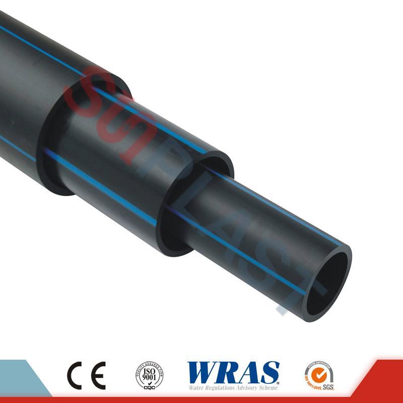 HDPE цевка (поли цевка) во црна / сина боја за водоснабдување