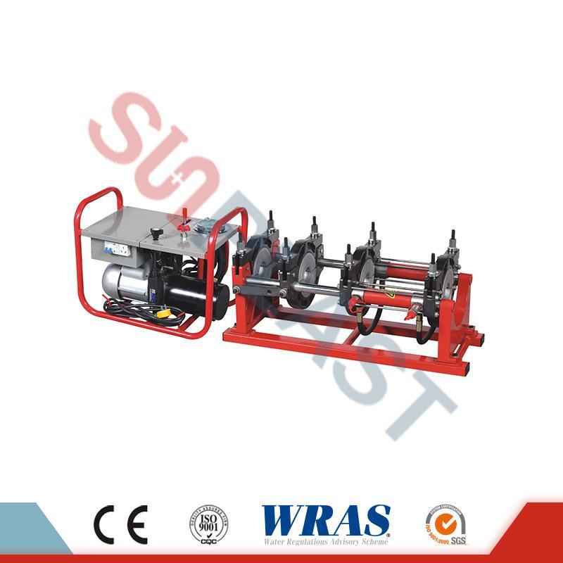 63-160mm хидрауличен задник за топење заварување машина за HDPE цевки