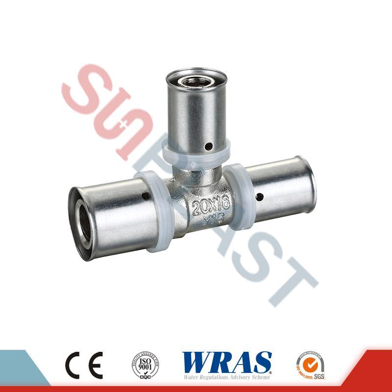 Месинг притиснете еднакво мета за PEX-AL-повеќеслојни PEX цевки